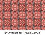geometric seamless pattern.... | Shutterstock . vector #768623935