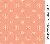 seamless snowflake pastel white ... | Shutterstock .eps vector #768628315