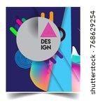 minimalistic design  creative... | Shutterstock .eps vector #768629254