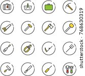 line vector icon set   suitcase ... | Shutterstock .eps vector #768630319