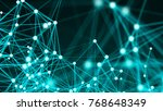 abstract connection dots....   Shutterstock . vector #768648349
