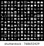 real estate icons set | Shutterstock .eps vector #768652429