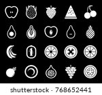fruits icons set | Shutterstock .eps vector #768652441