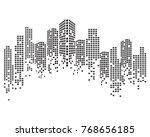 modern city skyline. vector... | Shutterstock .eps vector #768656185