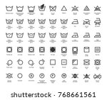 laundry vector icons set  full... | Shutterstock .eps vector #768661561