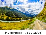 Mountain River Road Landscape