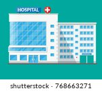 hospital building  medical icon.... | Shutterstock . vector #768663271