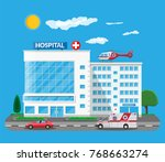 hospital building  medical icon....   Shutterstock . vector #768663274