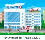 hospital building  medical icon....   Shutterstock . vector #768663277