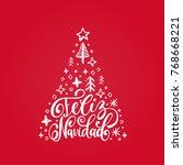 feliz navidad translated from... | Shutterstock .eps vector #768668221
