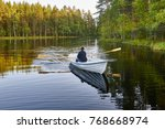Rowing On A Finland Lake....