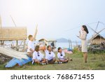 beautiful thai teacher in... | Shutterstock . vector #768671455