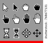 vector pixel computer cursor... | Shutterstock .eps vector #768677131