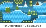 snow tileset and background for ...   Shutterstock .eps vector #768681985