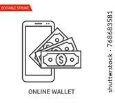 online wallet icon. thin line... | Shutterstock .eps vector #768683581