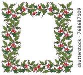 christmas ornamental... | Shutterstock .eps vector #768687109
