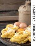 traditional italian pasta... | Shutterstock . vector #768689914
