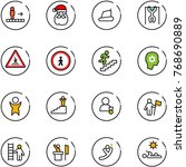 line vector icon set  ... | Shutterstock .eps vector #768690889