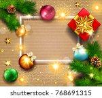 illustration for merry...   Shutterstock . vector #768691315