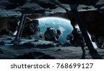 astronauts exploring a huge... | Shutterstock . vector #768699127
