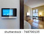 smart screen with smart home... | Shutterstock . vector #768700135