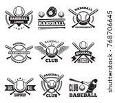 baseball logos set in vector... | Shutterstock .eps vector #768706645