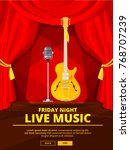 poster invitation at live music ...   Shutterstock .eps vector #768707239