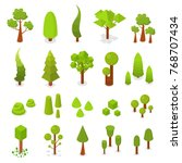 big set of trees. isometric... | Shutterstock .eps vector #768707434