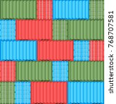 cargo container. seamless... | Shutterstock .eps vector #768707581