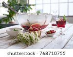 drinks for a party on a rustic... | Shutterstock . vector #768710755