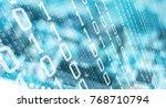 computer algorithm data future...   Shutterstock . vector #768710794