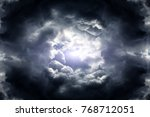 hole in the dark and dramatic... | Shutterstock . vector #768712051