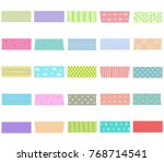 vector illustration set of cute ... | Shutterstock .eps vector #768714541