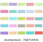 vector illustration set of cute ...   Shutterstock .eps vector #768714541