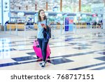 asian woman in casual style... | Shutterstock . vector #768717151