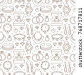 jewelry seamless pattern  line... | Shutterstock .eps vector #768717811
