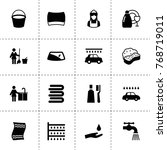 wash icons. vector collection...