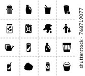 can icons. vector collection...