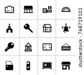 door icons. vector collection...