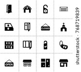 door icons. vector collection...