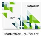 business brochure cover layout  ... | Shutterstock .eps vector #768721579