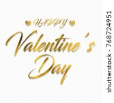 happy valentine s day greeting... | Shutterstock . vector #768724951