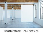 clean unfurnished interior with ... | Shutterstock . vector #768725971