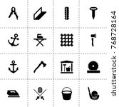 iron icons. vector collection...
