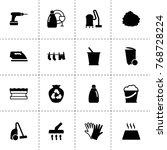 household icons. vector... | Shutterstock .eps vector #768728224