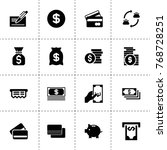 cash icons. vector collection...
