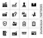 check icons. vector collection... | Shutterstock .eps vector #768728281