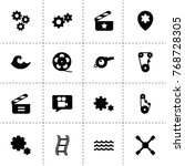 motion icons. vector collection ...