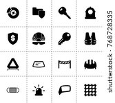 safety icons. vector collection ...