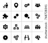 teamwork icons. vector... | Shutterstock .eps vector #768728341